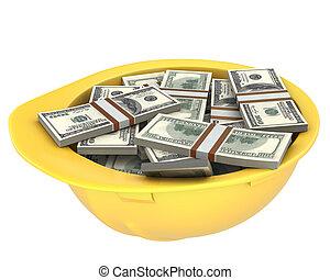 鋼盔, 美元, 充分, 黃色