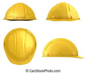 鋼盔, 見解, 被隔离, 黃色, 四, 建設