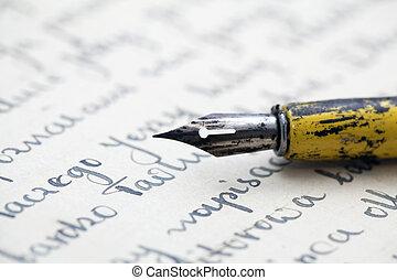 鋼筆, 老信件