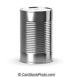 鋼, 不鏽純潔, 罐頭能, 3d