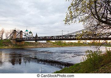 鋼, 懸挂, 生鏽, 舊的橋