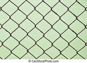 鋼, 柵欄, 背景, 磨擦