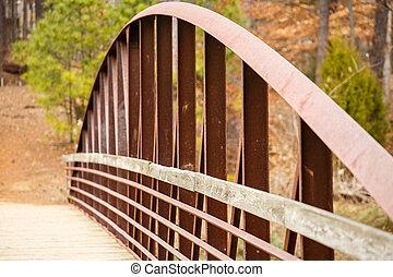 鋼, 橋梁, 生鏽, 一段時間, 老