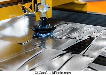 鋼, 機器, 切, 工廠