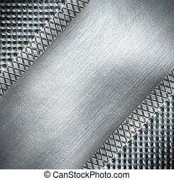 鋼, 盤子, 金屬, 背景。