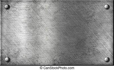鋼, 盤子, 鋁, 鋁, 金屬, 或者, 鉚釘