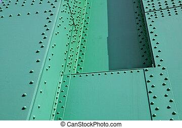 鋼, 綠色, 鉚釘
