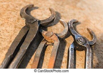 鋼, 老, 生鏽, 工具