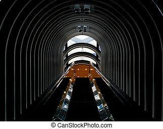 鋼, 隧道, 建築學, 背景圖形
