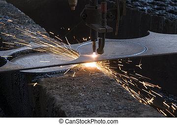 鋼, 電火花, 切机器