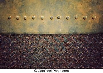 鋼, 風格, 老, 地板, 圖案, 背景