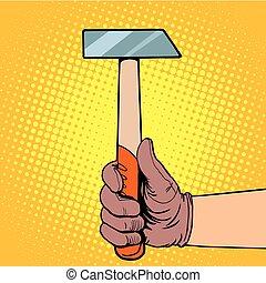 錘子, 手