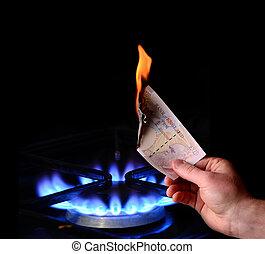 錢, 燒傷