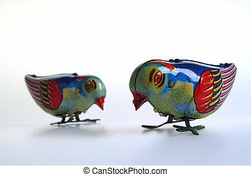 錫, 兩只鳥