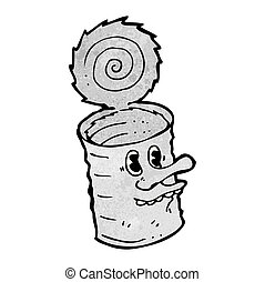 錫, 卡通, 罐頭