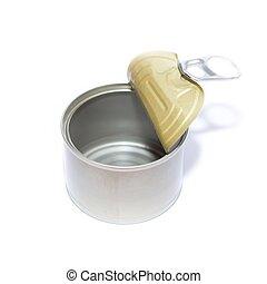 錫, 打開, 空, 罐頭