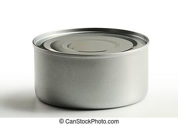 錫, 白色, 被隔离, 背景, 罐頭