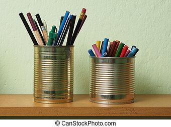 錫, upcycling, 附件, 罐頭, 寫