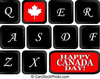 鍵盤, 旗, 計算机它, canadian