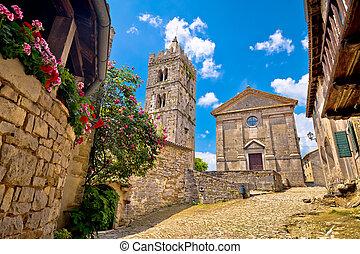 鎮, 被修補, 廣場, 老, 嗡嗡聲, 教堂