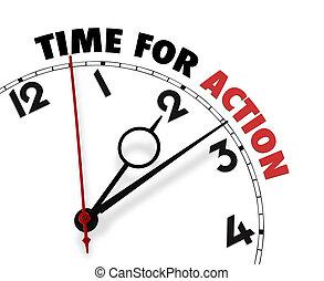 鐘表面, 詞, 時間, 行動, 白色, 它