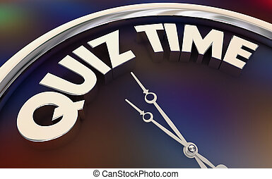 鐘, 研究, 插圖, 測驗, 拿, 詞, 時間, 測試, 3d