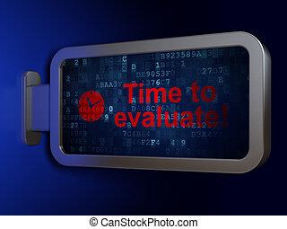 鐘, evaluate!, 背景, 時間, 廣告欄, concept: