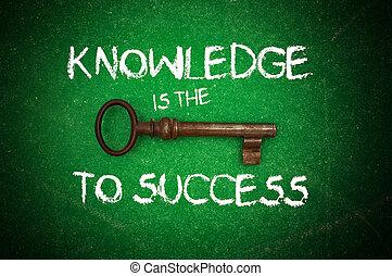 鑰匙, 知識, 成功