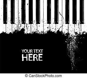 鑰匙, 鋼琴, 骯髒