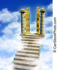 門, 天堂
