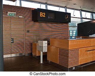 門, 機場, 計數器, 到達登記, 飛行