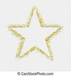 閃光, 星, 被隔离, 背景, 透明