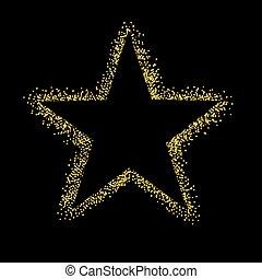 閃光, 星, 被隔离, 背景, 黑色