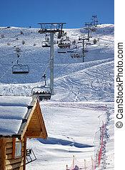 開始, 舉起, 2, 滑雪