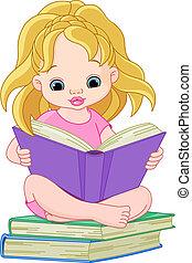 閱讀, 女孩