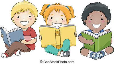 閱讀, 書, 孩子
