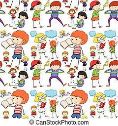 閱讀, seamless, 學習, 孩子
