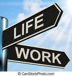 關系, 生活, 職業, 路標, 工作, 意思, 健康, 平衡
