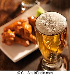關閉, 啤酒, 向上, 小雞飛行