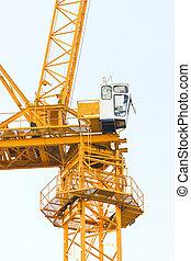 關閉, 建設, 向上, crane.