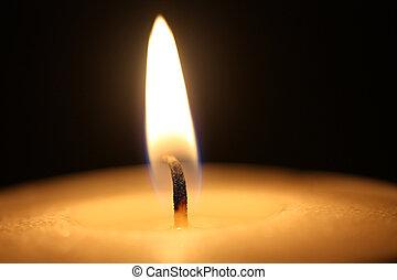 關閉, 火焰, 向上, 蠟燭