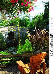 院子, 景觀美化, 池塘