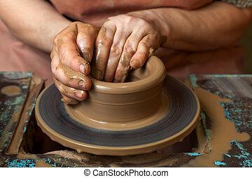 陶器, 波特, 投手, 建立, 輪子