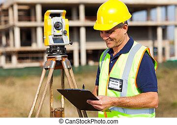陸地, 工作, 年齡, 中間, 站點, 測量員, 建設