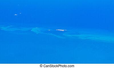 陽光普照, 加勒比海, 空中, 島, 看法, 海, 小, 天