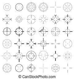 集合, 十字准線, icon.