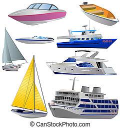 集合, 小船, 圖象