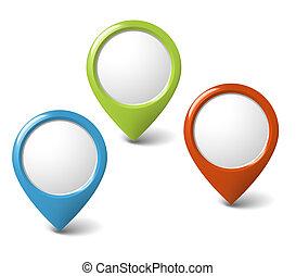 集合, 指針, 輪, 內容, 地方, 你, 3d