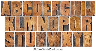 集合, 木頭, 類型, 字母表, 葡萄酒