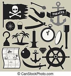 集合, 海盜, 圖象